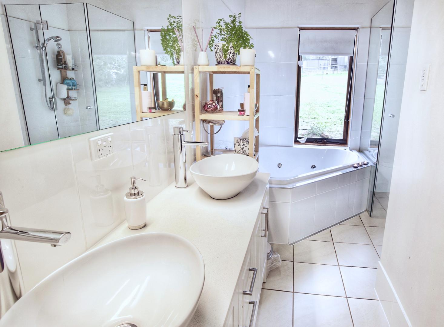 Modern renovated bathroom