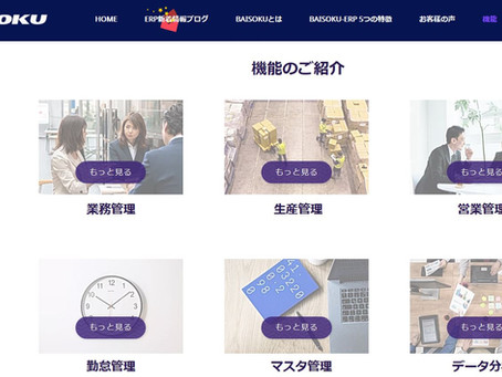 BAISOKU-ERPの機能ページを更新しました!
