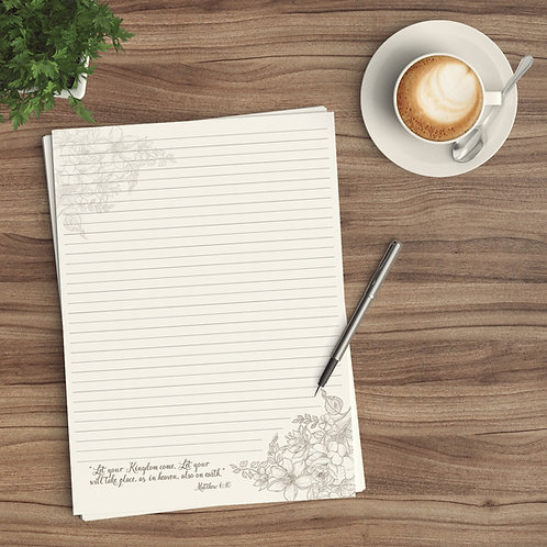 Letter Writing Paper - Digital Download - Kingdom Floral
