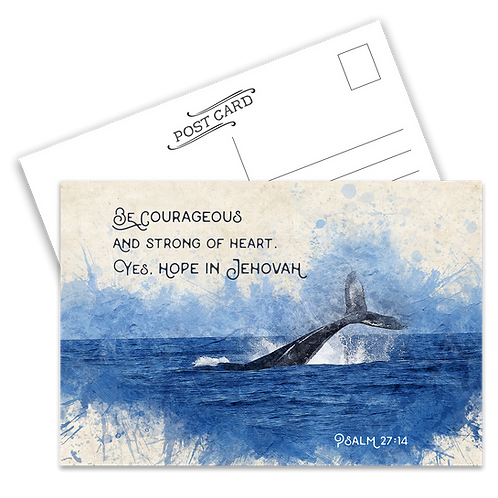 Be Courageous Postcard