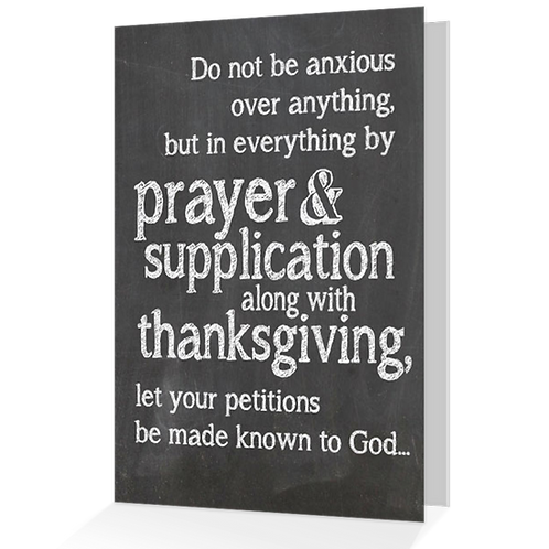 By Prayer and Supplication