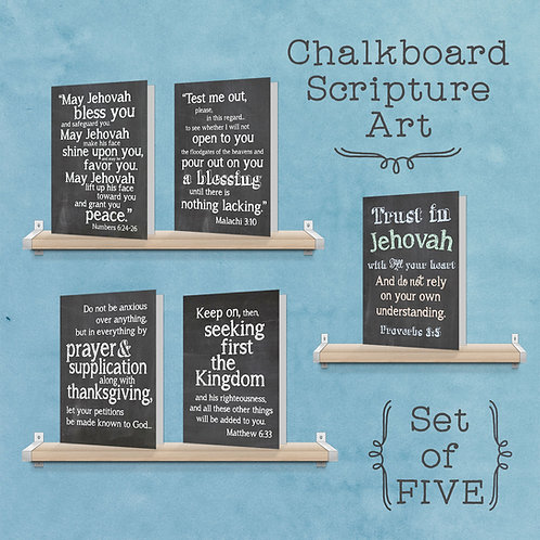 Chalkboard Scripture Set