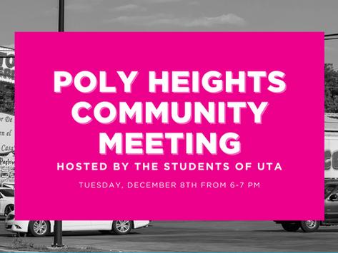Poly Heights Community Meeting - Reunión Comunitaria de Poly Heights