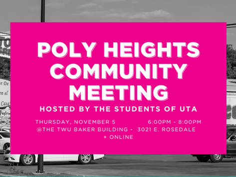 Poly Heights Community Meeting