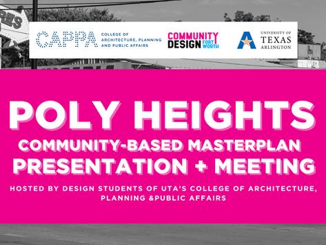Poly Heights Community-Based Masterplan Presentation + Meeting