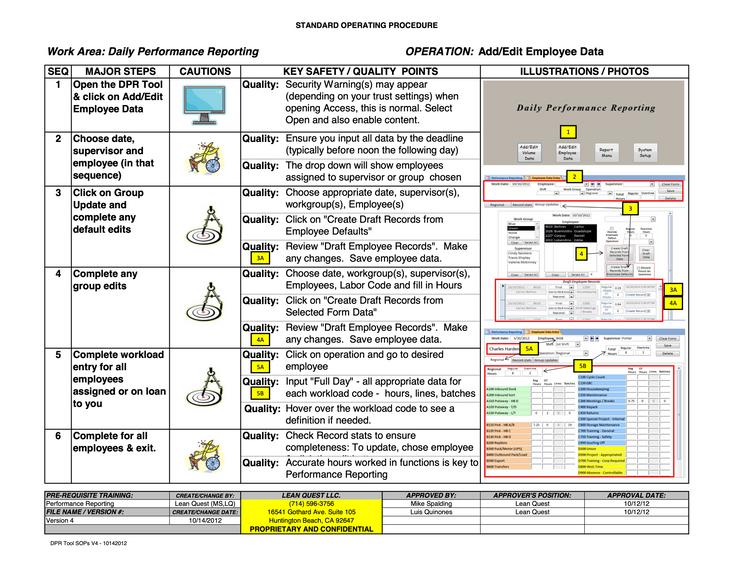 DPR Tool SOP - Add/Edit Attendant