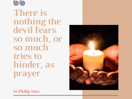 There is nothing the devil fears so much!