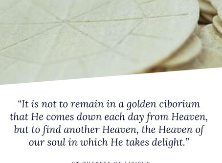 It is not to remain in a golden ciborium