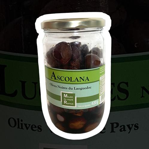Olives Ascolana Noires Pasteurisées 420gr