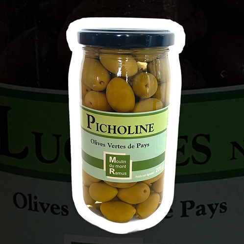 Olives Picholines Pasteurisées 200gr