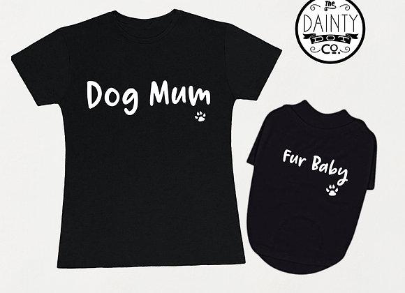 Dog Mum & Fur Baby Matching T-Shirts