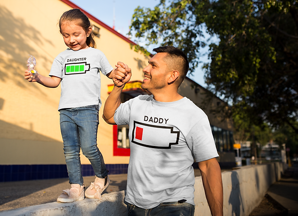 Father & Daughter Battery T-Shirts