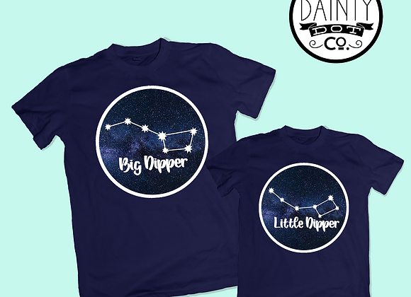 Big Dipper or Little Dipper Constellation T-Shirts