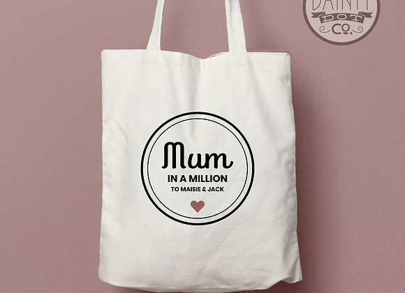 Personalised Mum In a Million  Tote Bag Gift
