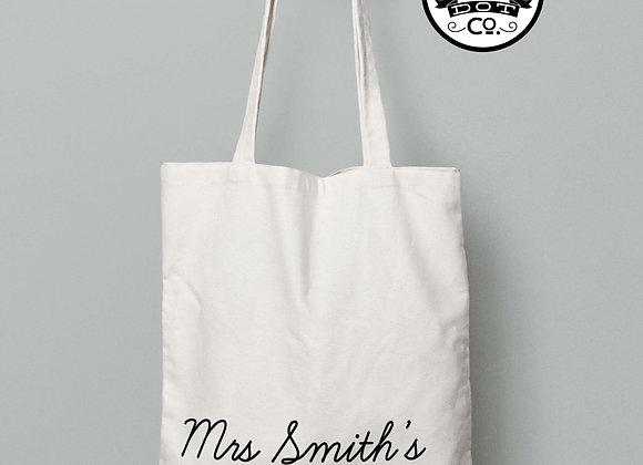 Personalised Teacher Stuff Tote Bag Gift