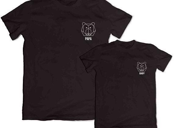 Daddy bear Baby Bear Father's Day  Black T Shirt Tee TShirt