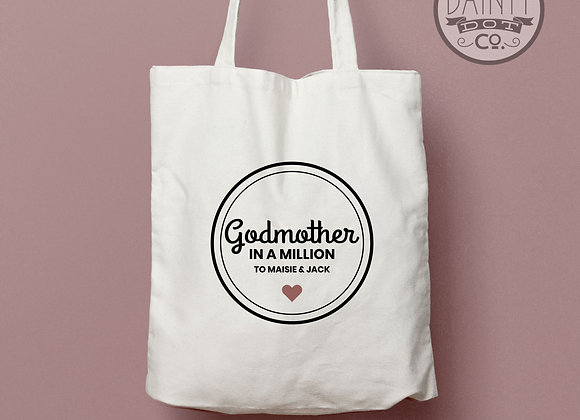 Personalised Godmother In a Million Tote Bag Gift
