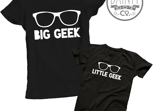 Geek Geeky Glasses Wearers Mother & Daughter T-shirt