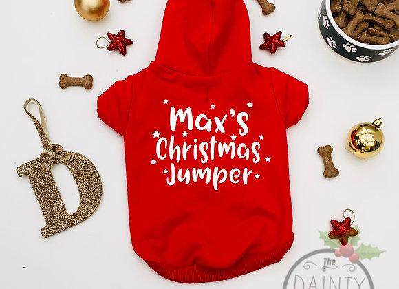 Personalised Christmas Hoodie For Dog