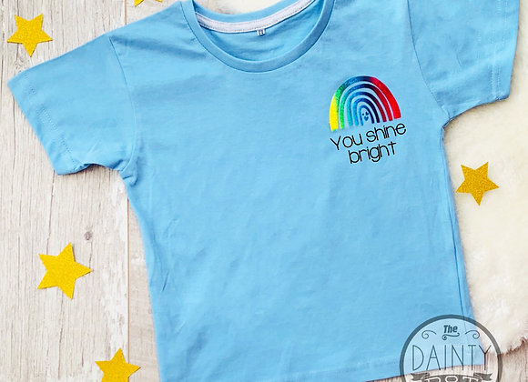 Rainbow Trail Motivational  Blue T-Shirt