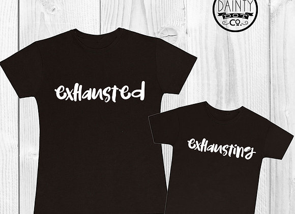 Exhausted Mother & Child T-shirt