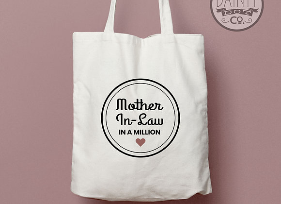Personalised Mother in Law in a Million Tote Bag Gift