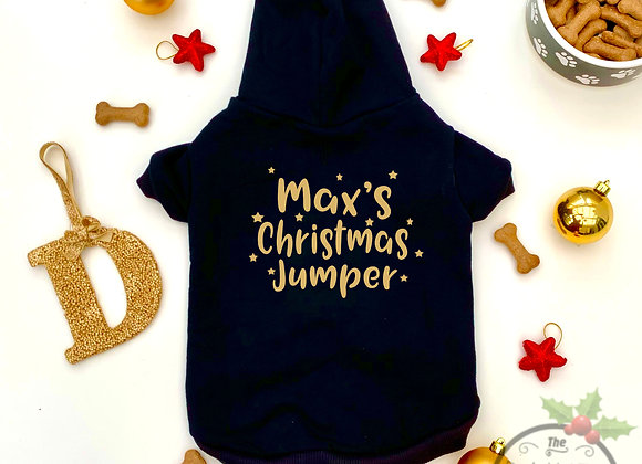 Personalised Christmas Hoodie For Dog