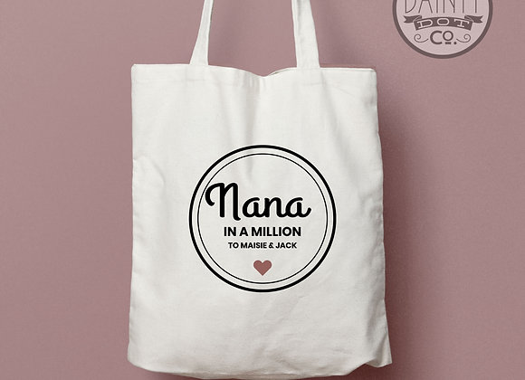 Personalised Grandma Nana In a Million Tote Bag Gift