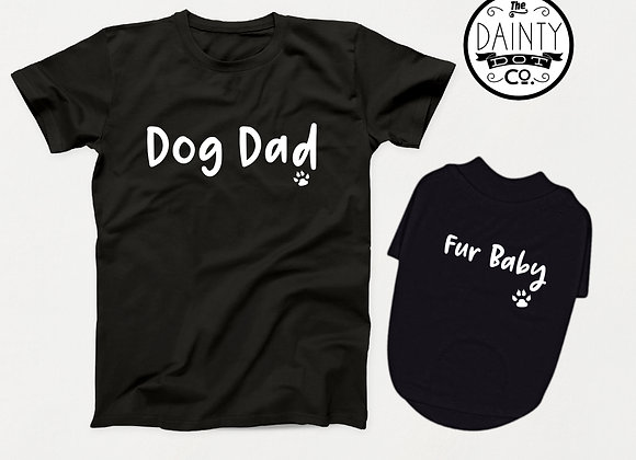 Dog Dad & Fur Baby Matching T-Shirts