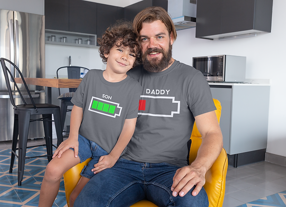 Father Son Battery T-Shirts