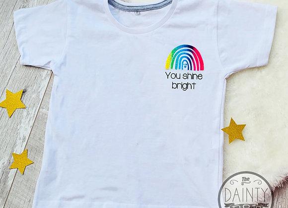 Rainbow Trail Motivational White T-Shirt