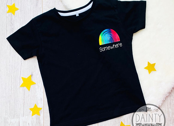 Rainbow Trail Motivational  Black T-Shirt