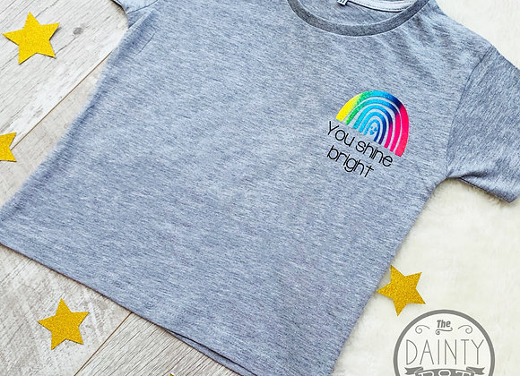 Rainbow Trail Motivational Grey T-Shirt