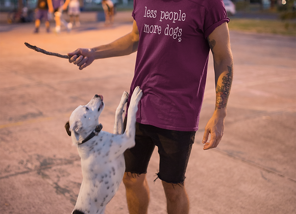 Less People More Dogs T-Shirt