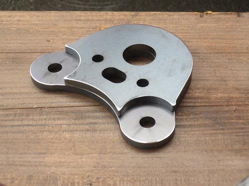 スーパーカブ用バーハンドル化ステムベースハイテン鋼(高張力鋼)※未塗装品