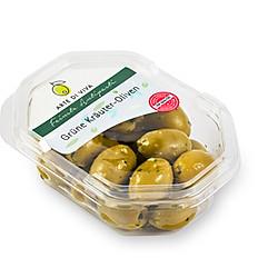 Grüne Kräuter Oliven