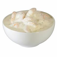 Shrimpssalat mit Dill