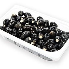 Schwarze Oliven mit Frischkäse