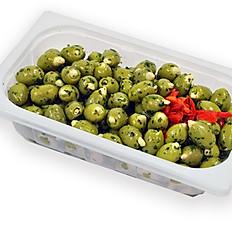 Oliven gefüllt mit Mandeln