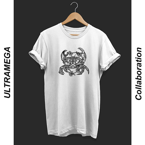 'Acid Crab' - by ULTRAMEGA Unisex T-Shirt White