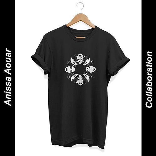 'Masks' by Anissa Aouar - Unisex T-Shirt Black