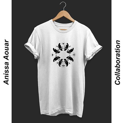 'Masks' by Anissa Unisex T-Shirt White
