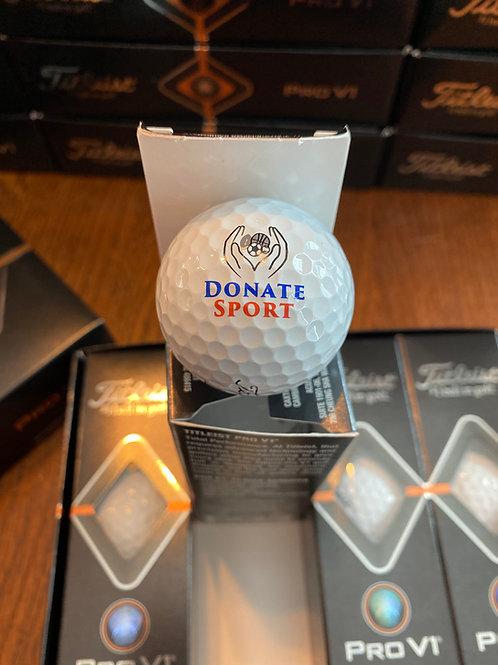Titleist Pro V1 Custom Logo Golf Balls - Donate Sport