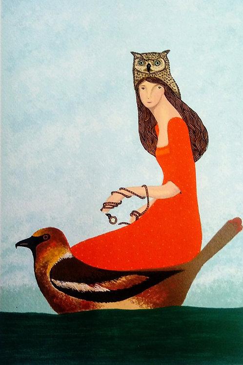 """María Neri, """"El viaje inevitable"""", serigrafía"""