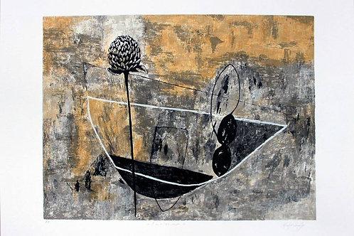 """Eduardo Mejorada, """"Invierno"""", serigrafía, 50x70 cm."""