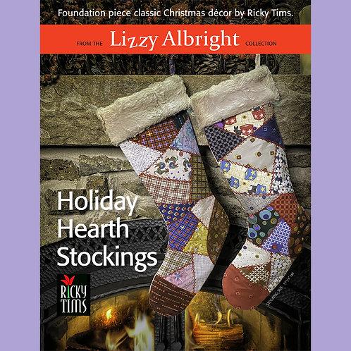 Holiday Hearth Stocking - Print