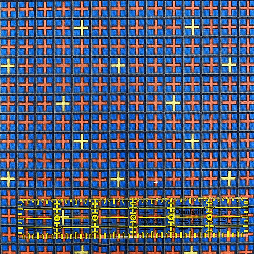 Lizzy Albright Double Grid Blue
