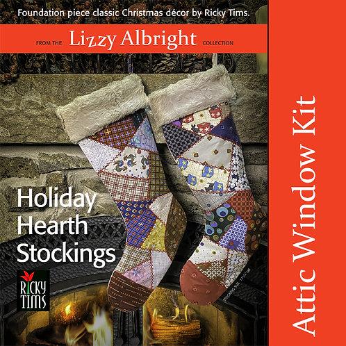 Holiday Hearth Stockings (Attic Window) Kit