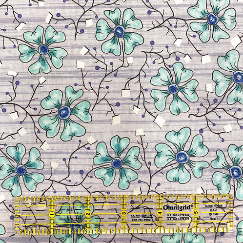 Lizzy Albright Fun Flowers Aqua