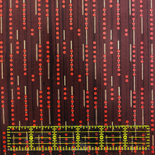 Lizzy Albright Line Dots Red